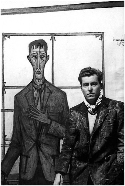 Bernard Buffet in his studio (undated), black and white photograph, Musee Bernard Buffet