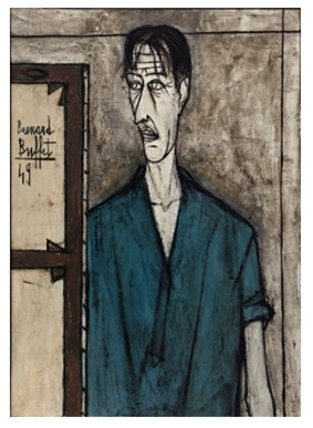 Portrait de l'artiste (1949), oil on canvas, 92 x 65 cm, Museed'Art modern de la Ville de Paris.