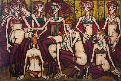 Figure 8:Les folles, femmes au salon (1970), oil on canvas, 200 x 300 cm, Museed'Art modern de la Ville de Paris.