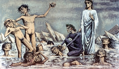 Figure 9:L'Enfer de Dante: Damnésprisdans les glaces (1976), oil on canvas, 250 x 430 cm, Musee Bernard Buffet